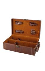 双支红酒皮盒608222-1